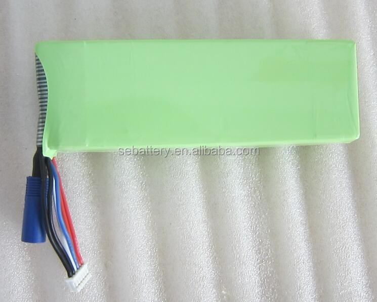 High Rate RC 12v lipo battery 3700mAh with 40C discharge