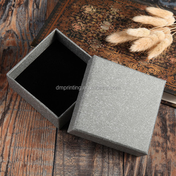 Custom luxury grey Watch packaging Box With Insert