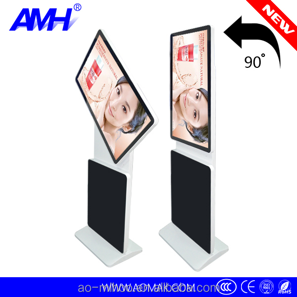 "42"" rotated 2 screen touch lcd display advertising monitor"