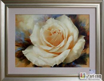 Witte Roos Bloem Foto Frame Schilderij Op Slaapkamer - Buy Foto ...