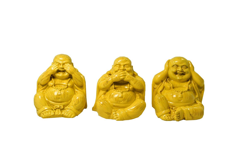 Three Wise Buddha Hear-No, See-No, Speak-No Evil Statue set of 3 Buddha statue and figurine Eastern Enlightenment Masterpiece