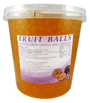 Customized available Taiwan made passion fruit flavor boba ball