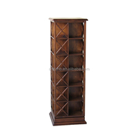 High quality hot selling wooden rotatable dvd cd rack