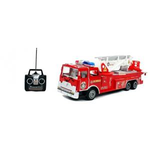 "Liberty Imports 17"" Big R/C Rescue Fire Engine Truck Remote Control Kids Toy with Extending Ladder"