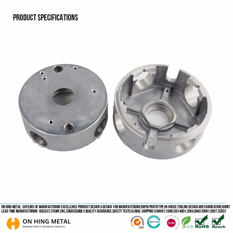 electric aluminum alloy die cast casting motor housing part