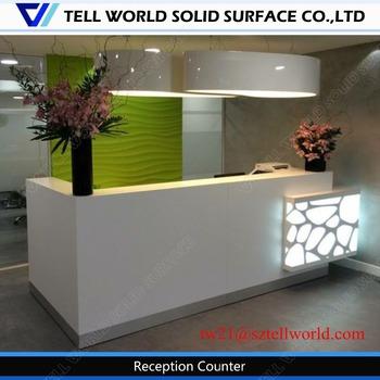 Superieur Office Reception Counter Design, Small Office Receptionist, Curved Small Reception  Counter