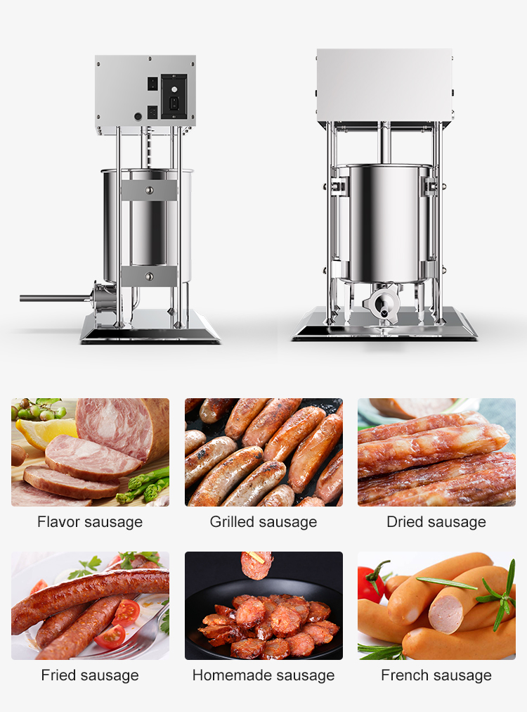 CE approvall factory low price automatic sausage stuffing machine electric