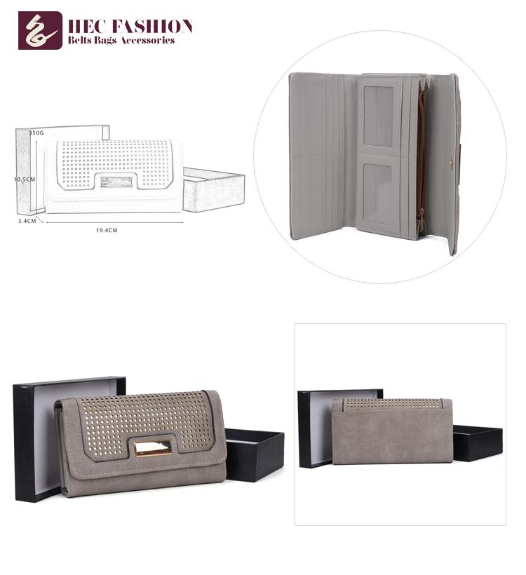 HEC Custom Fashion Design Female Wallet Ladies Metal Clutch Wallet Bags And Purses