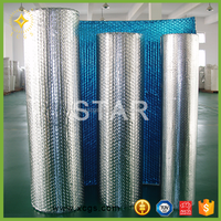 Aluminum foil and bubble lamination faced heat insulation radiant barrier