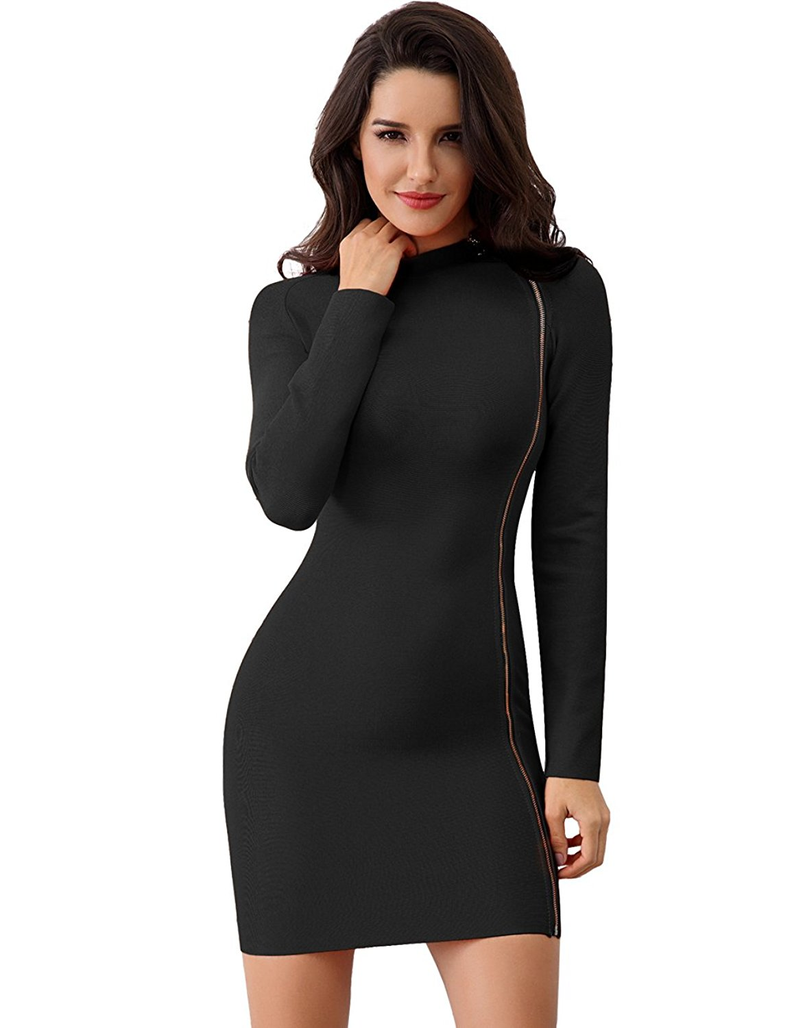 84e06a06b81 Get Quotations · Miss Water Bandage-Dress-Rayon Stretchy Tight,Bodycon Mini  Hot Tight Party Dress