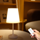 Rechargeable remote control led table light shade modern touch table lamp