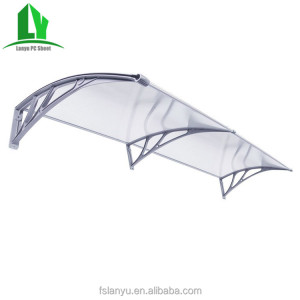 1200M*1200M canopy rain green polycarbonate awning with uv-coat