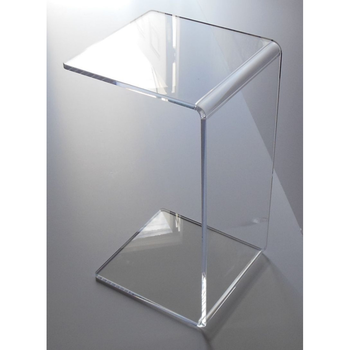 Attirant C Shape Clear Acrylic Side Tables