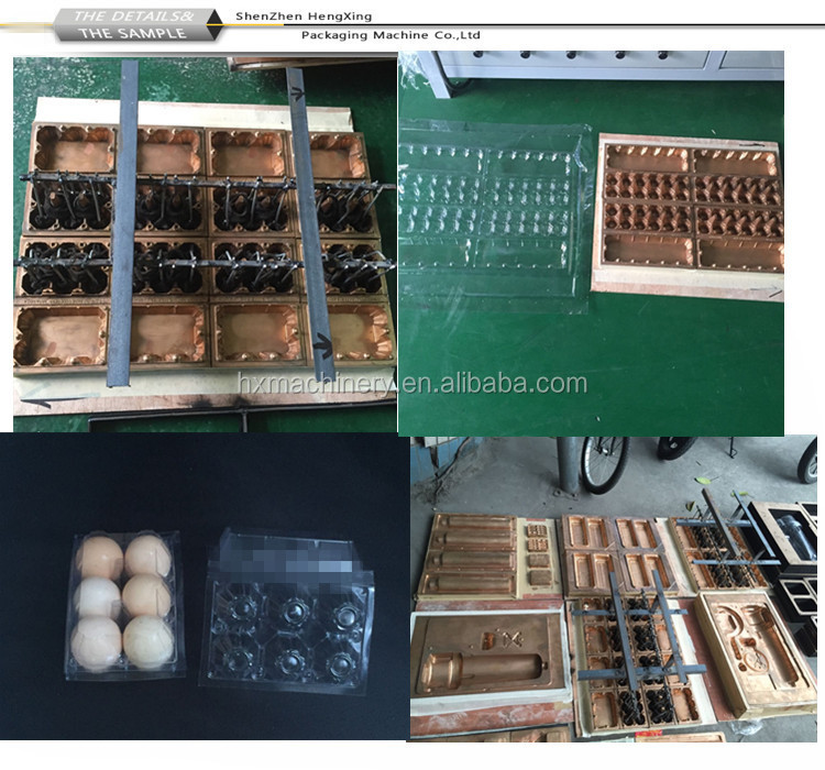 Plastic Egg Tray Forming Machine making PET Clear plastic box