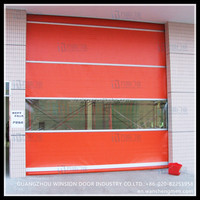 High performance rolling garage cheap price aluminum good quality steel door