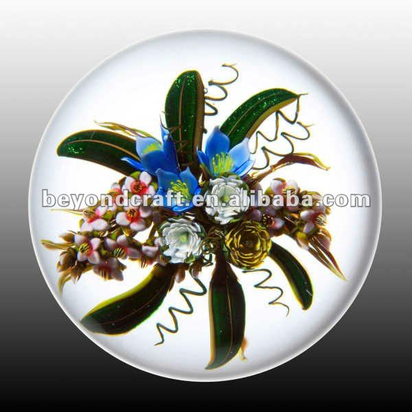 Custom glass crystal magnify photo paperweight