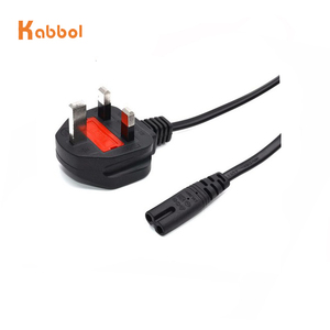 C7 Figure 8 Female 3 prong UK Plug AC Power Cable Lead Cord Adapter 1.8m/6ft