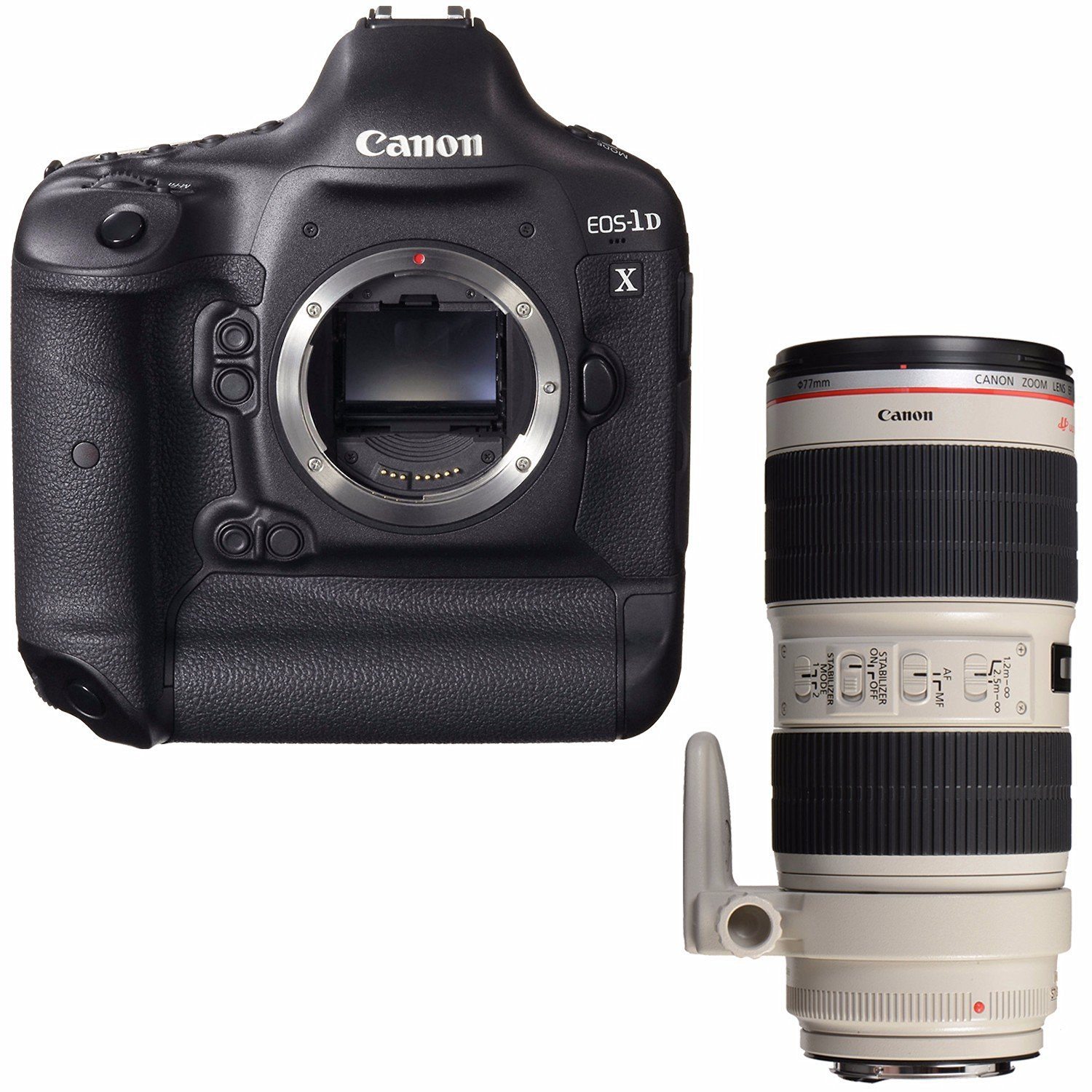 Canon EOS-1D X DSLR Camera (Body Only) + Canon EF 70-200mm f/2.8L IS II USM Lens Bundle