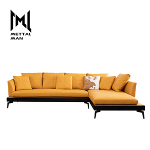 Living room furniture leather synthetic couches modern L shaped beautiful sectional genuine leather 5 seater sofa set