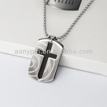 Dog tags cross men chain pendant necklace buy cheap mens dog tag dog tags cross men chain pendant necklace audiocablefo