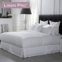 Hotel egyptian 100 cotton white queen hotel 300tc sateen flat sheet set king