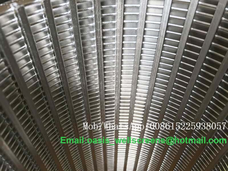 316 Wedge Wire Wrapped Screens Square Slot 10 Cylinder Type Filter
