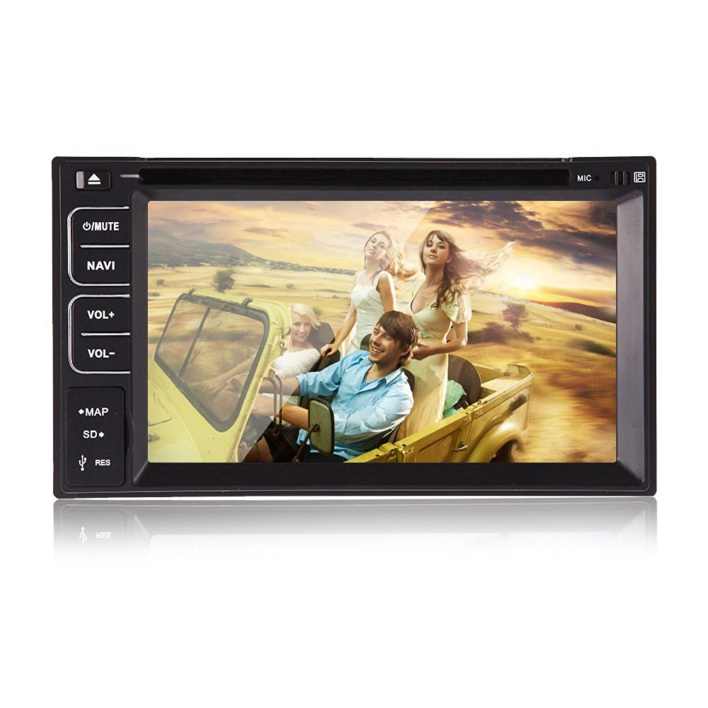 Christmas Sale!!! CD Pupug 6.2 INCH GPS Double 2 DIN MAP Sat Navigation Radio Bluetooth Car Player Stereo DVD CD Player 2 Din Touch Screen In Car Radio Audio Video Receiver Universal HD Multi-