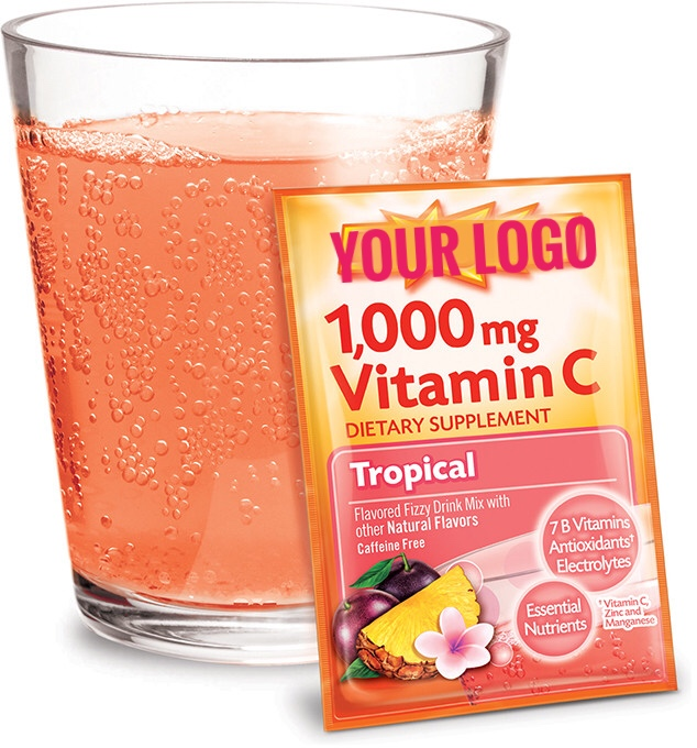 GMP private label 1000mg vitamin c powder drink