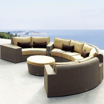 Patio Wicker Resin Rattan Oversized Lots Outdoor Furniture Mexico Bankok Indonesia Half Round Sofa Sets
