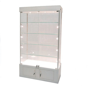 Wall display cabinets for collectibles/boutique store fixtures glass shelves/salon retail display case
