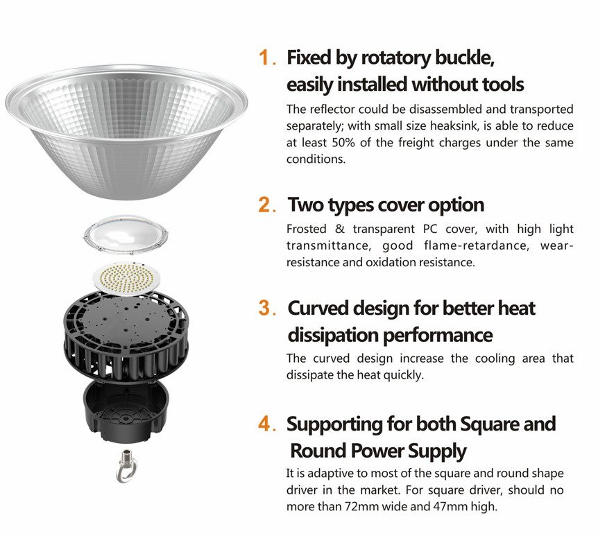 hot sale 100w led ufo high bay light led high bay lamp 3 years warranty