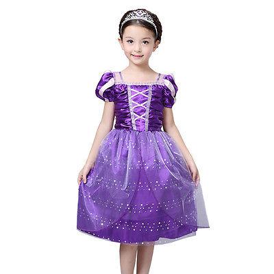 New font b Fancy b font Kids Baby Girls Purple Sofia The First Princess Costumes Cosplay