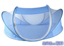 015 Hot Selling New Blue Baby Infant Bed Canopy Mosquito Net Cotton padded Mattress Pillow Tent