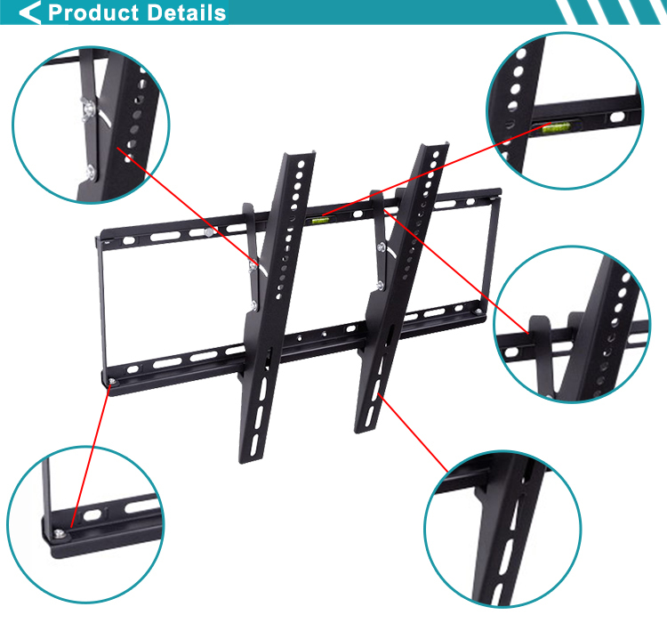"Slim Tilting Flat TV Wall Mounts For TV Screen 32""-65"""