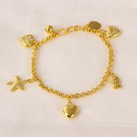 71288 xuping charm heart shape new gold bracelet designs
