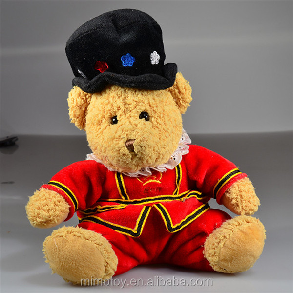 Stuffed Animal Plush Guard Teddy Bear With Uniform OEM Custom Handsome Personalised Soft Plush Kids Toy Teddy Bear