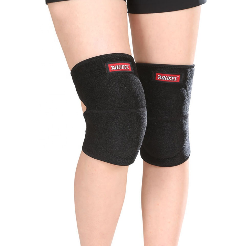 Neoprene Knee Hinge Brace Knee Support, Black;blue;grey;pink