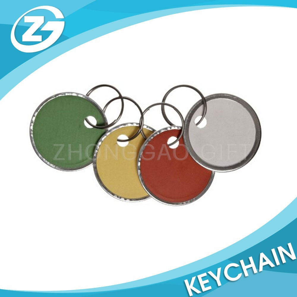 China Manufacturer OEM Logo Best Selling Fashionable Cheap Custom Avery Assorted Split Ring Metal Rim Key Tag