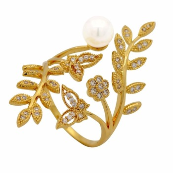 Trendy latest low price saudi arabia gold finger ring designs for