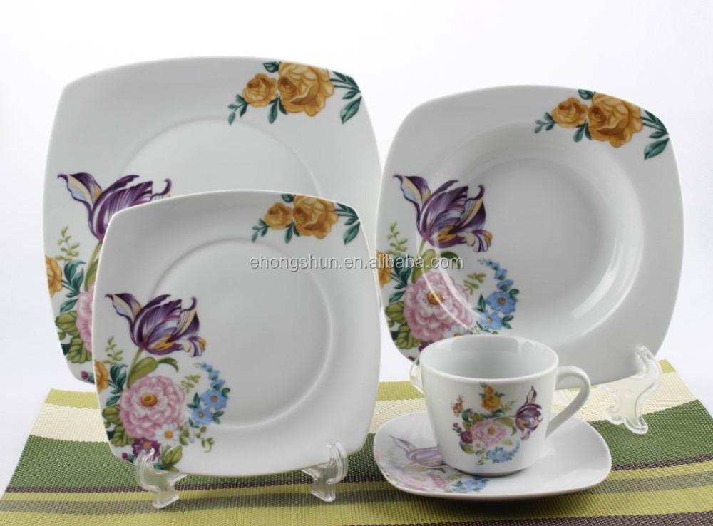 20pcs square dinner set spanish style square dinnerware set square crockery buy bulk dinnerware & 20pcs Square Dinner SetSpanish Style Square Dinnerware SetSquare ...