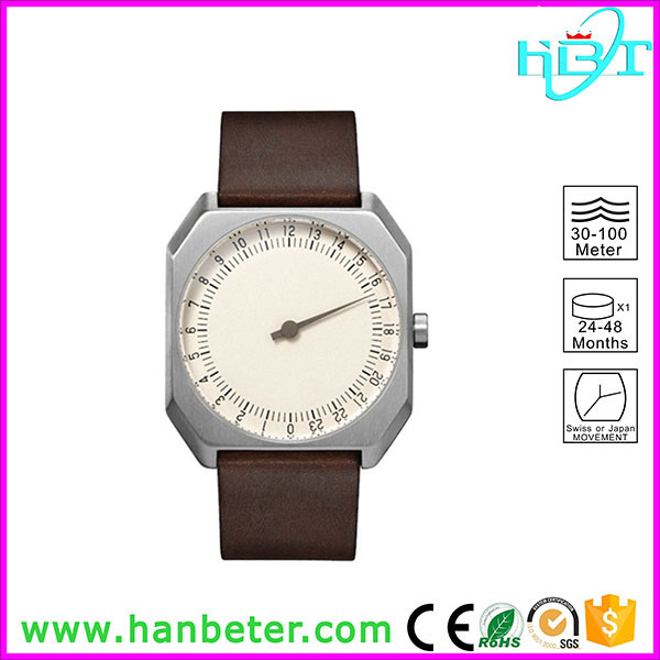 New fashion square quartz stainless steel watch water resistant with one watch hand