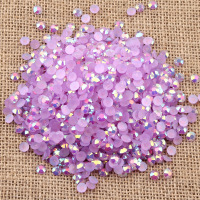 NEW Flat back Round Beads Perfect Cut AB Resin jelly color nail art rhinestone for USA
