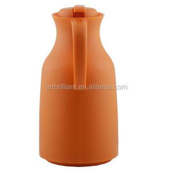 vintage orange thermal carafe coffee tea server pitcher pot brilliant brand - Thermal Carafe