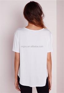 eb567156 Plain White Longline T Shirt, Plain White Longline T Shirt Suppliers and  Manufacturers at Alibaba.com