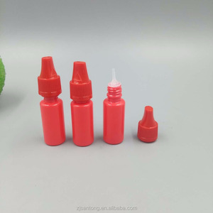 Plastic red 10ml PET empty plastic e cig liquid bottle,eye drop bottle made in China