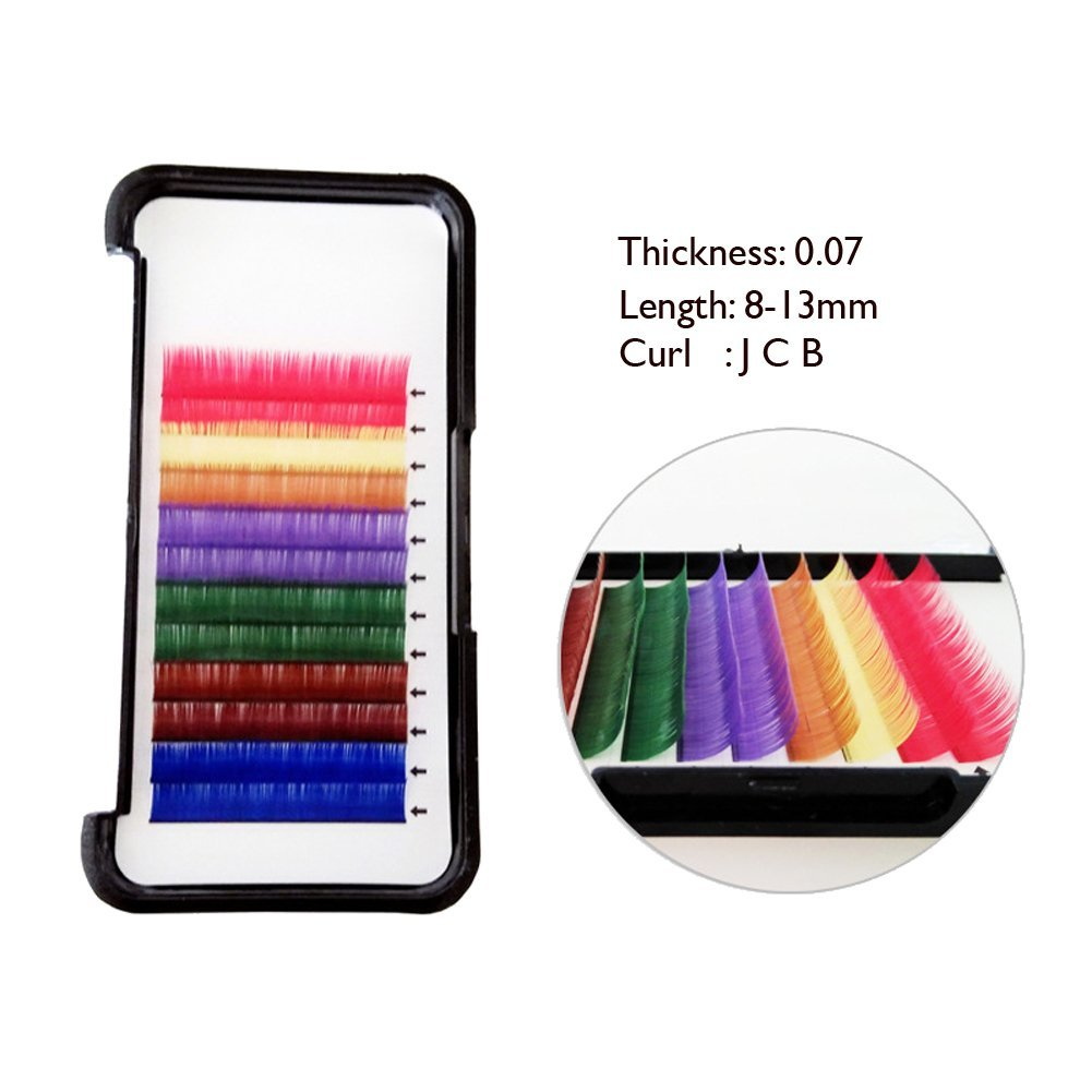 Quality AAPROTOOLS Stainless Steel Multi Rainbow Color 3D Eyelash Extension Tweezers SEMI Angled A