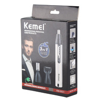 Kemei Fast shaving Men Electric Nose Ear Hair Trimmer Painless Women trimming sideburns eyebrows Beard hair clipper cut Shaver