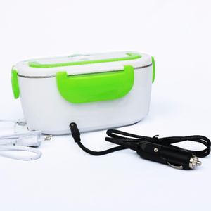 Electrical Food Warmer Heating Stainless Steel Lunch Box 220V plus 12V