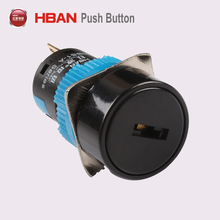 High Quality CE RoHS 16mm IP40 Plastic 3position key switch