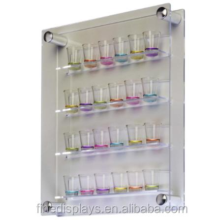 Workshop Series 24 Shot Glass Display Case For Wall Mount Side